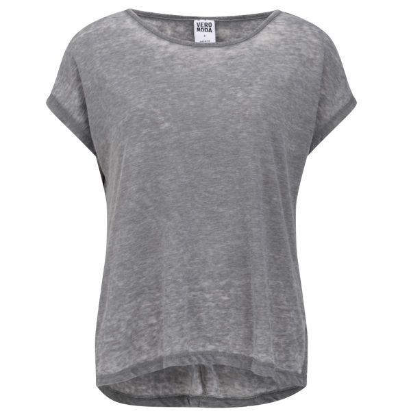 vero moda women 39 s moog slouch t shirt grey womens. Black Bedroom Furniture Sets. Home Design Ideas
