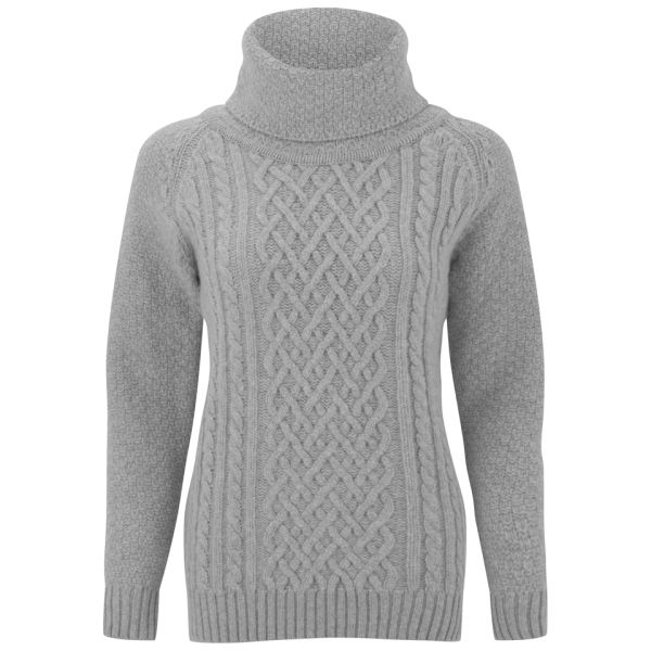 9ddd400000be5d John Smedley Women s Mora Cashmere Blend Cable Knit Jumper - Silver  Image 1