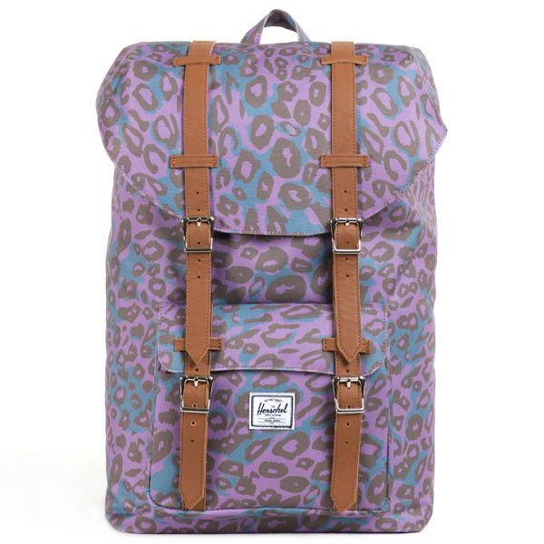 Herschel Supply Co. Little America Mid-Volume Backpack - Purple Leopard