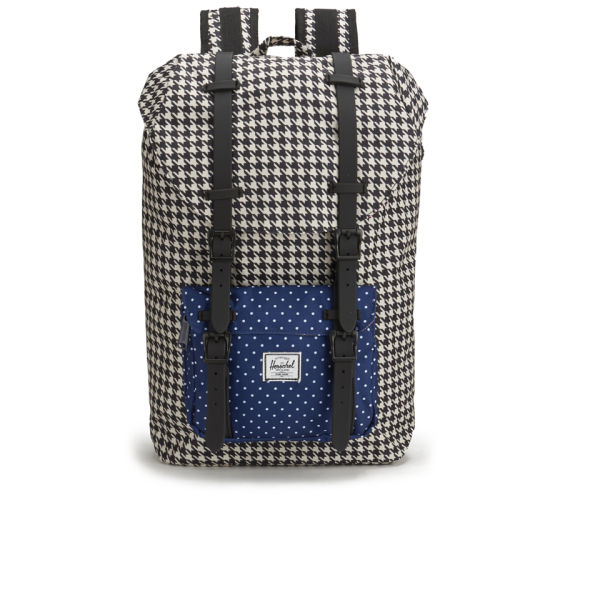 Herschel Supply Co. Little America Mid Volume Backpack - Houndstooth/Navy Polka Dot/Black Rubber