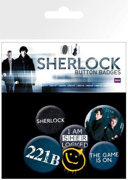 Lot de Badges Sherlock - Assortiment