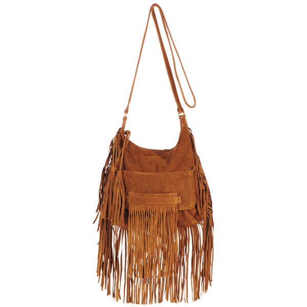 French Connection Haniel Suede Fringed Bag Image 1