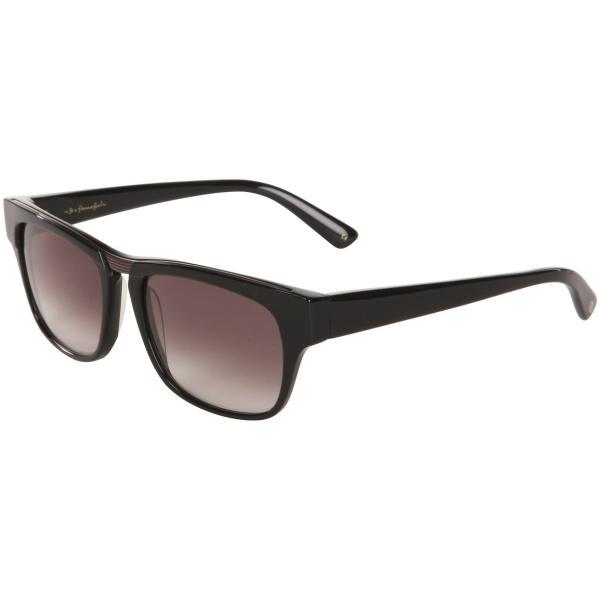 Lulu Guinness Faye Retro Sunglasses - Black Frame/ Grey Lens Womens ...
