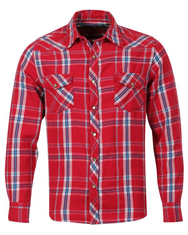 feacfd8a2bf Soul Cal Long Sleeve Check Shirt - Red Mens Clothing