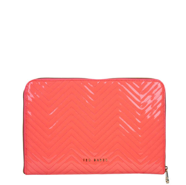 Ted Baker Lianna Quilted Laptop Sleeve Pale Pink