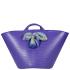 Lilifi Medium Beach Bucket Bag with Unique Vintage Scarf- Purple: Image 1