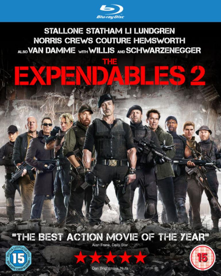 the expendables 2 bluray zavvicom