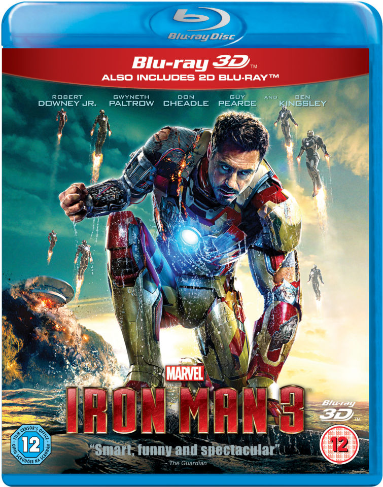 Iron Man 3 3d Blu Ray Zavvi