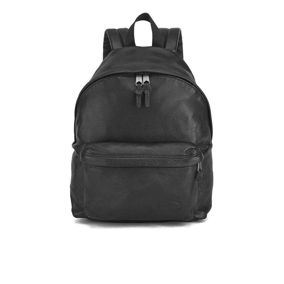 Eastpak Padded Pak r Leather Backpack - Black e3100e2c51cf1