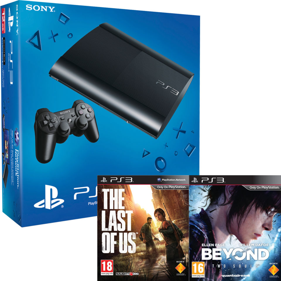 PS3: New Sony PlayStation 3 Slim Console (500 GB) - Black - Includes Beyond: Two Souls and The ...