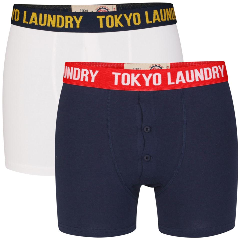 Tokyo Laundry Men S Marshall River Boxers Midnight Blue