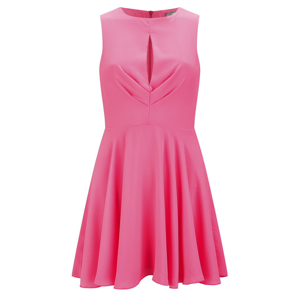 LOVE Women's Pleated Dress - Pink Womens Clothing