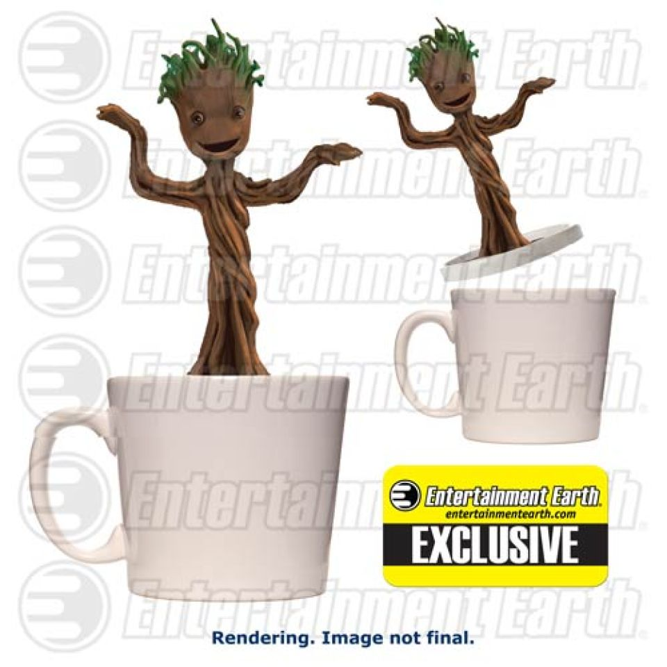 Marvel Baby Gifts Uk : Marvel guardians of the galaxy dancing groot mug my geek box