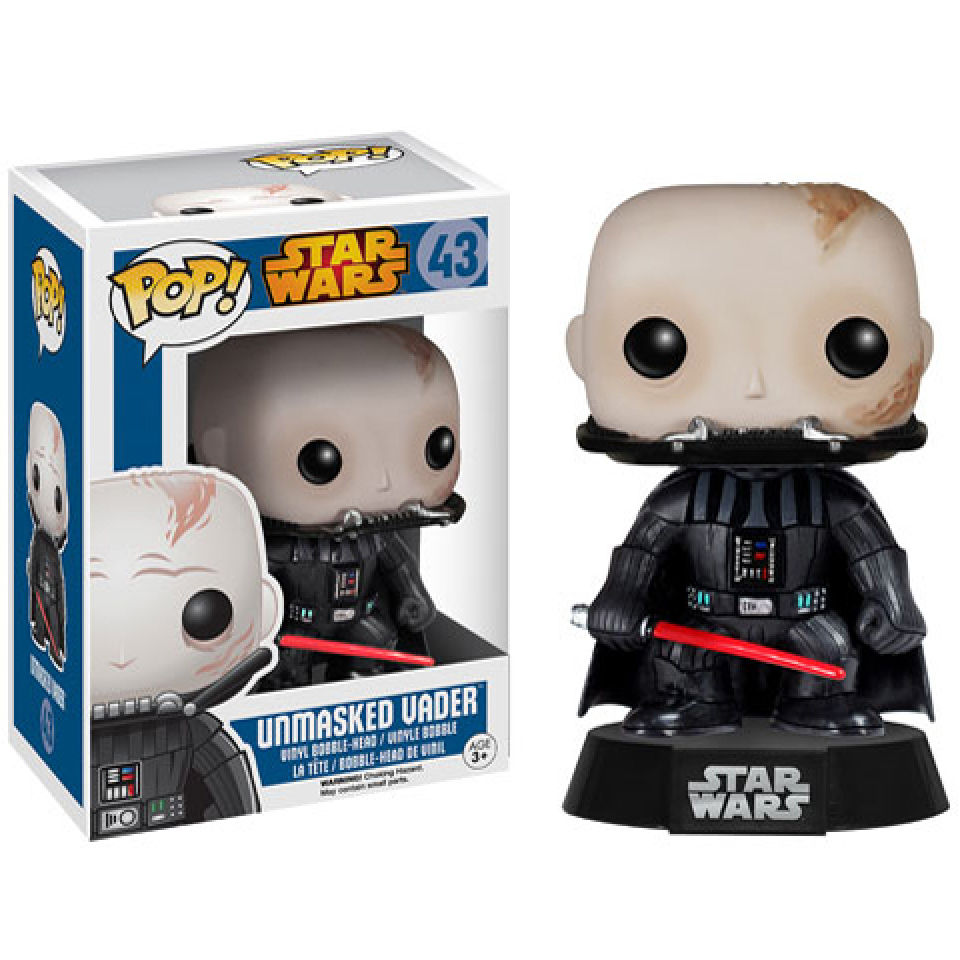 Star Wars Darth Vader Unmasked Pop Vinyl Bobble Head