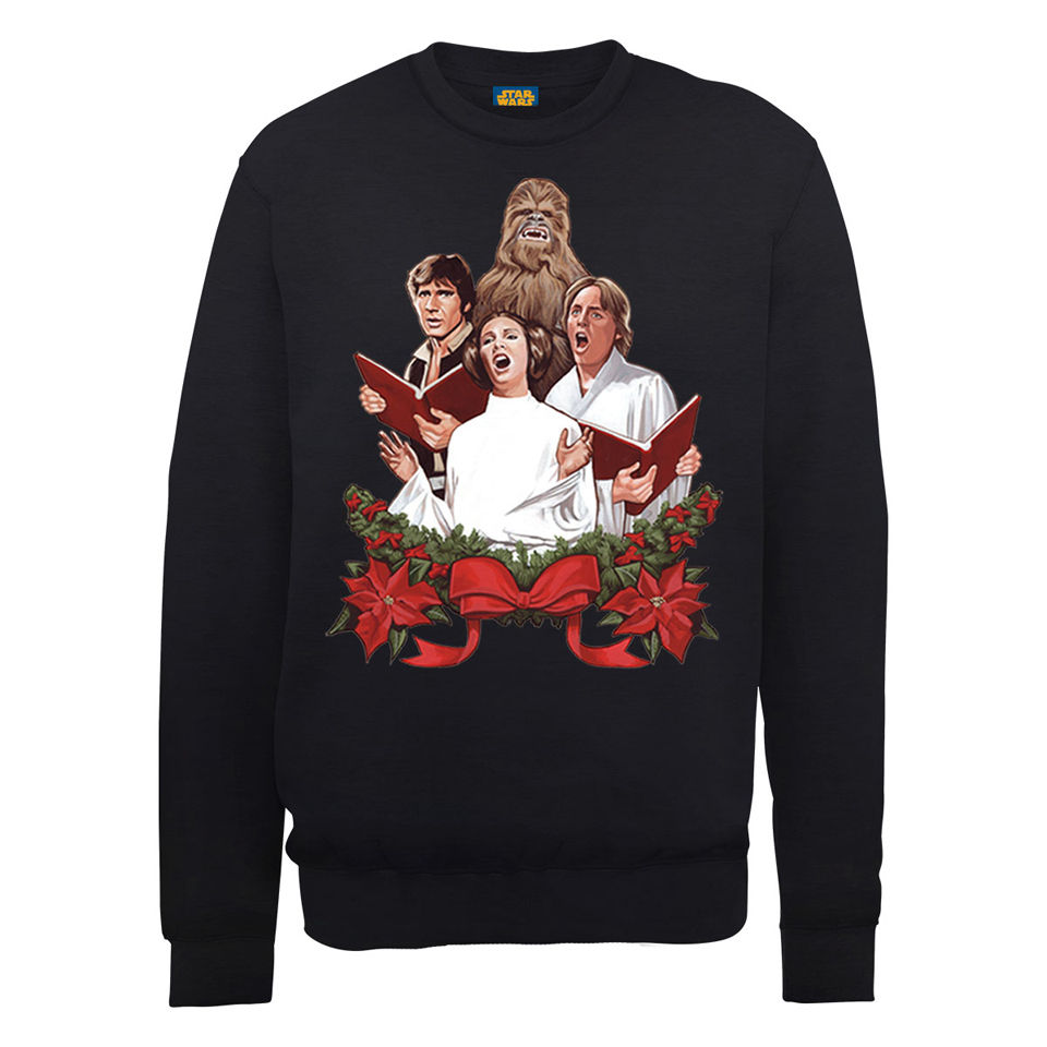 Star Wars Christmas Jedi Carols Sweatshirt - Black | IWOOT