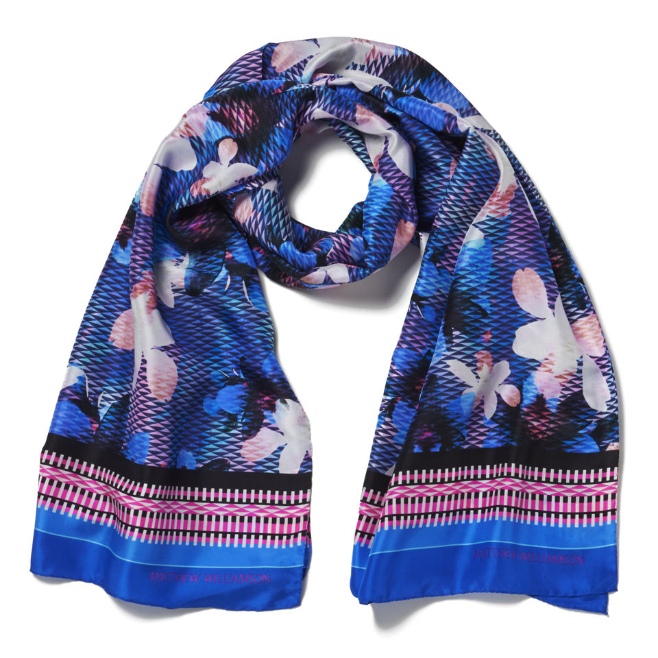 matthew williamson graphic floral occasion scarf ink