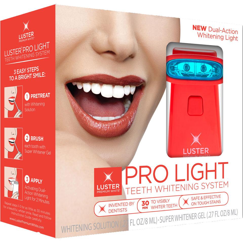 luster pro light teeth whitening system whitening solution gel