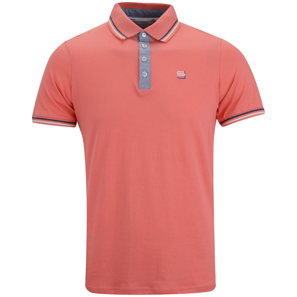 Smith jones men 39 s gonzola polo shirt coral free uk for Coral shirts for guys