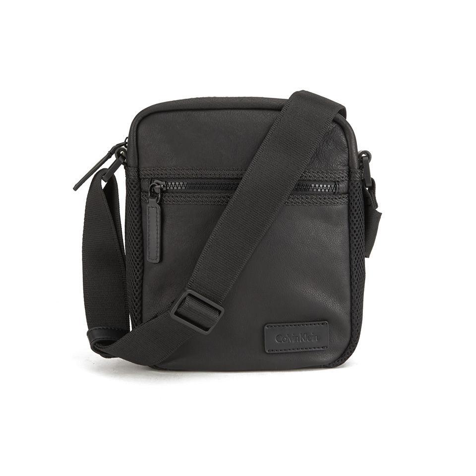 Calvin Klein Men S Jimmy Leather Crossbody Bag Black