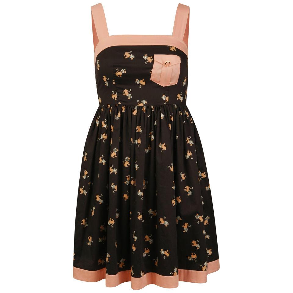 Orla Kiely Women S Sun Dress Black Free Uk Delivery
