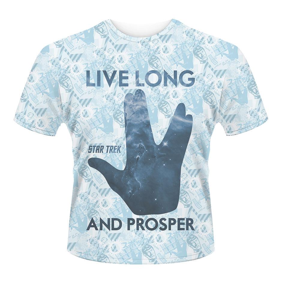 star trek men 39 s t shirt prosper white merchandise zavvi. Black Bedroom Furniture Sets. Home Design Ideas