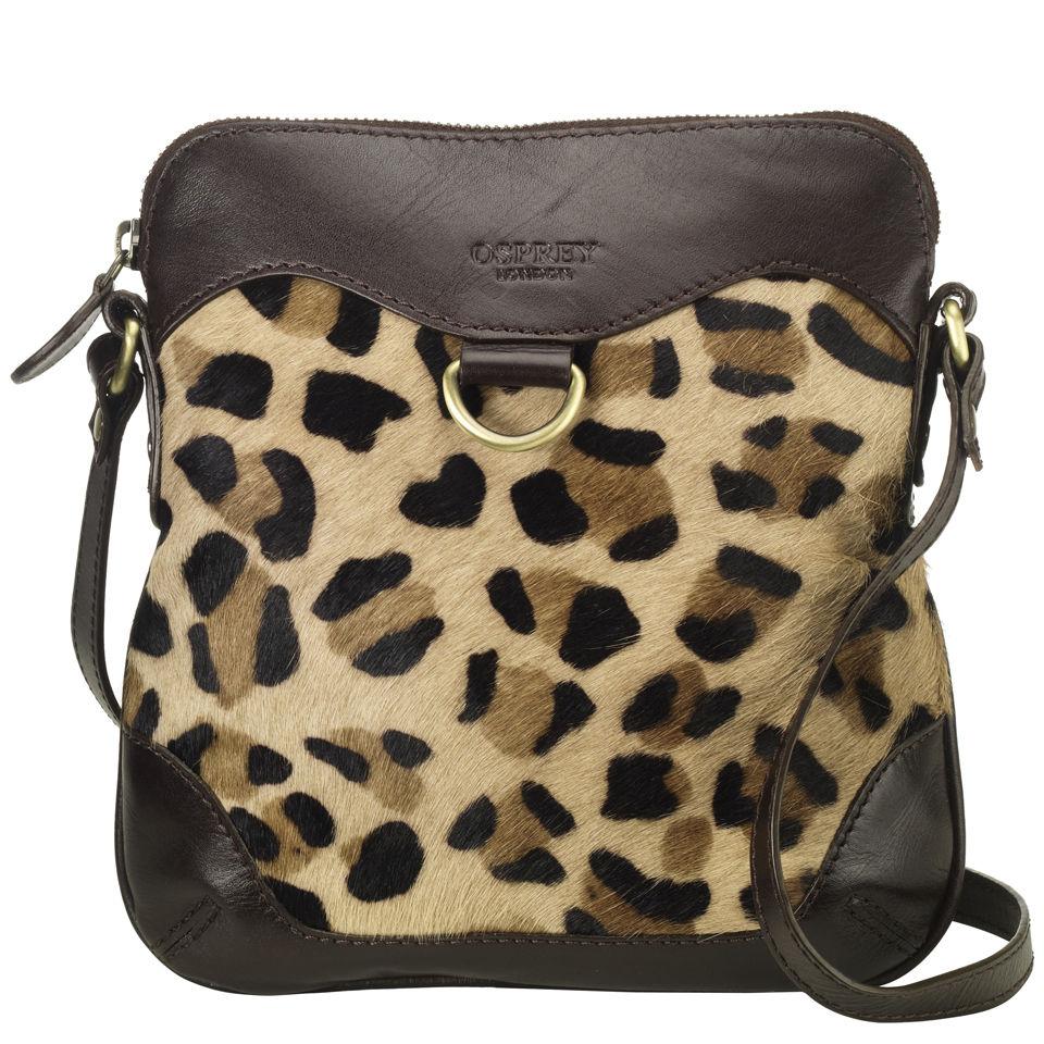 Jaguar Clothing Accessories: OSPREY LONDON The Ranger Safari Leather Cross Body Bag