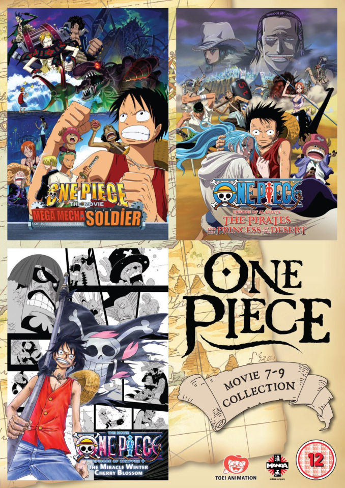One Piece Movie Collection 3 (Contains Films 7-9) DVD | Zavvi