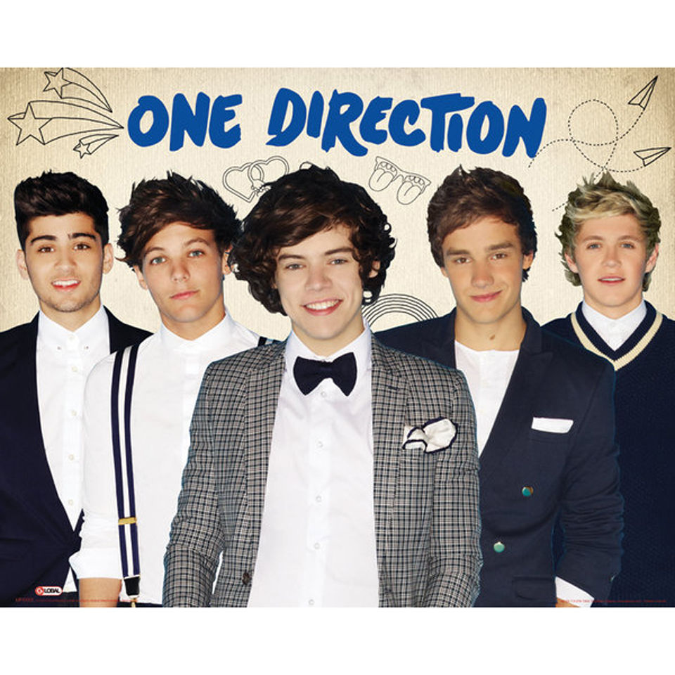 One Direction Group - Mini Poster - 40 x 50cm | IWOOT