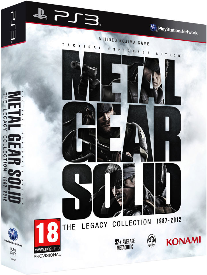 Metal Gear Solid Legacy Collection Ps3 Zavvi Com