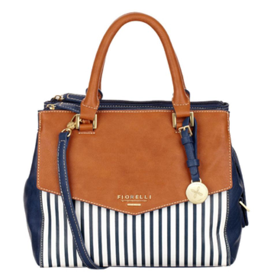 Fiorelli Mia Striped Mini Bowler Bag Nautical