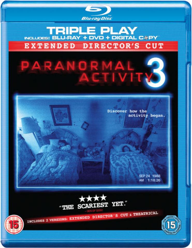 Paranormal Activity 3 Triple Play Blu Ray Dvd And Digital Copy Blu Ray Zavvi Uk