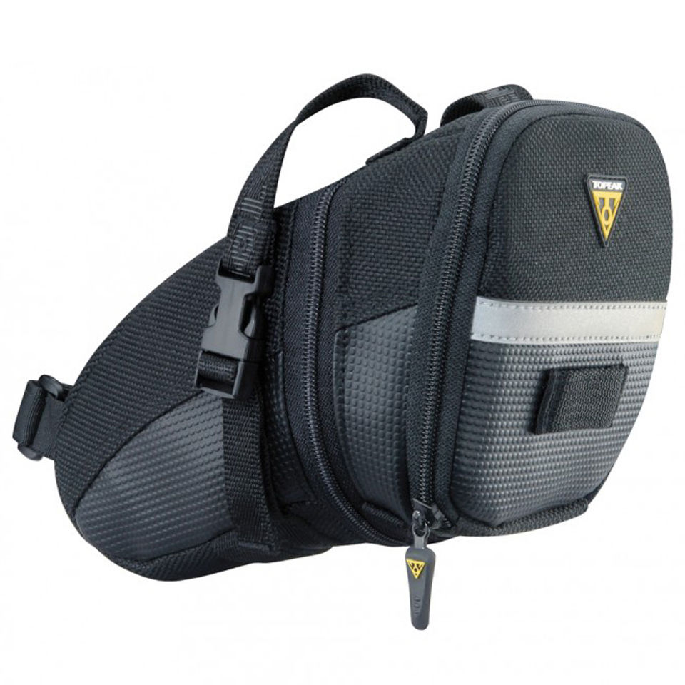 Topeak Wedge Aero Saddlebag With Strap - Large | Saddle bags
