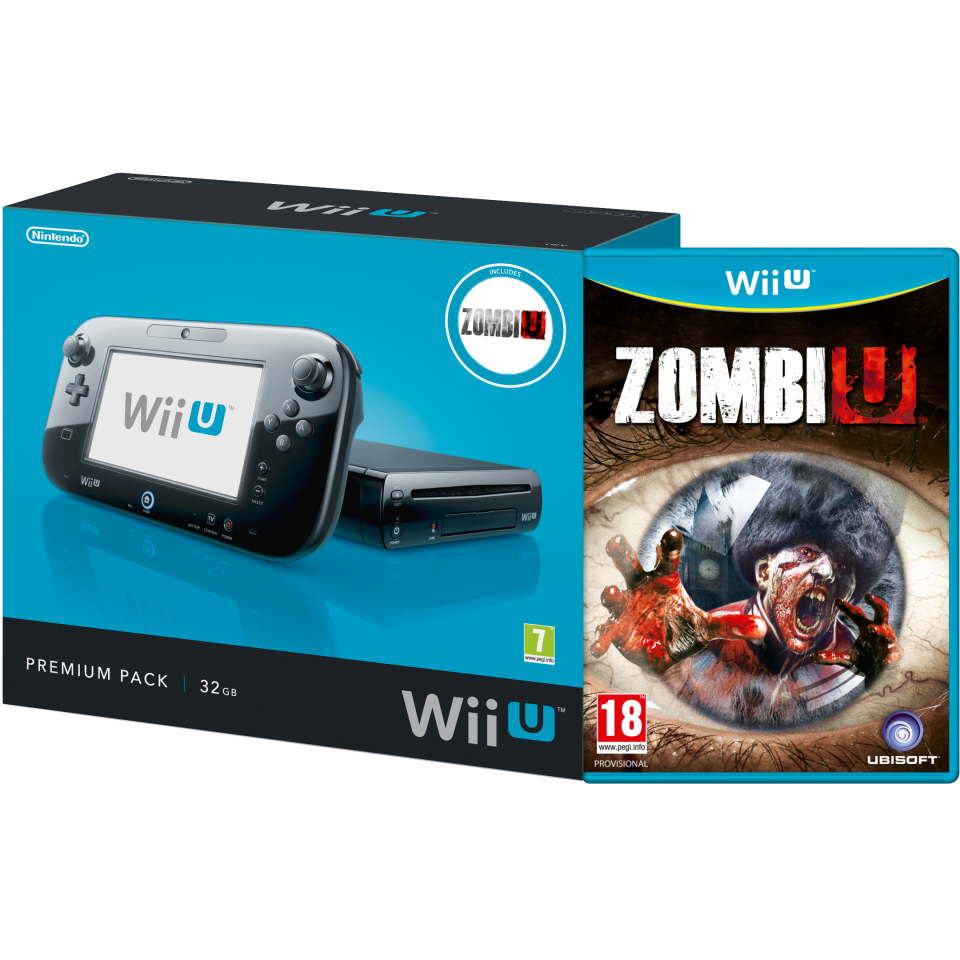 wii u console 32gb zombiu premium pack black games consoles zavvi. Black Bedroom Furniture Sets. Home Design Ideas