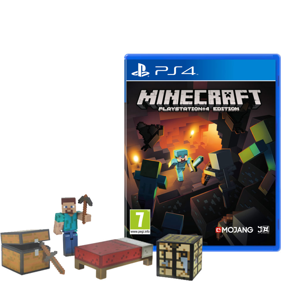 minecraft ps4 with survival pack ps4 zavvi