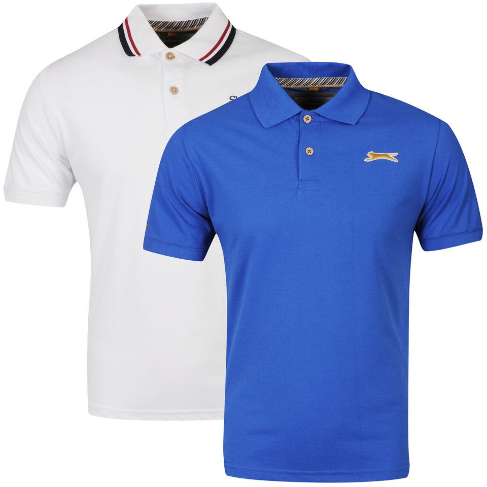 slazenger men's 2pack polo shirts  whiteroyal clothing