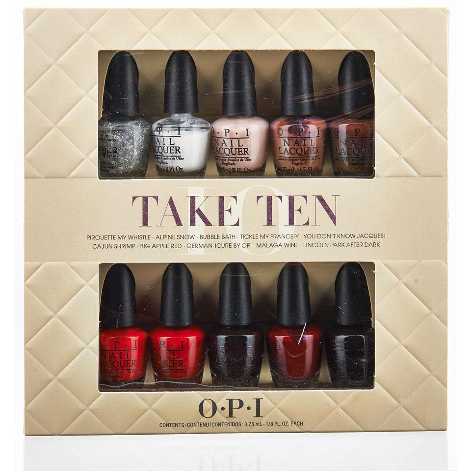 OPI Take Ten Mini Kit (10 Products) | Free Shipping | Lookfantastic