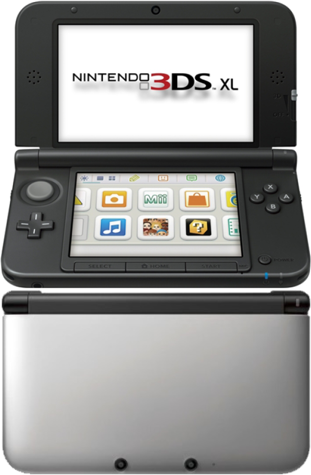 nintendo 3ds xl console silver and black games consoles. Black Bedroom Furniture Sets. Home Design Ideas