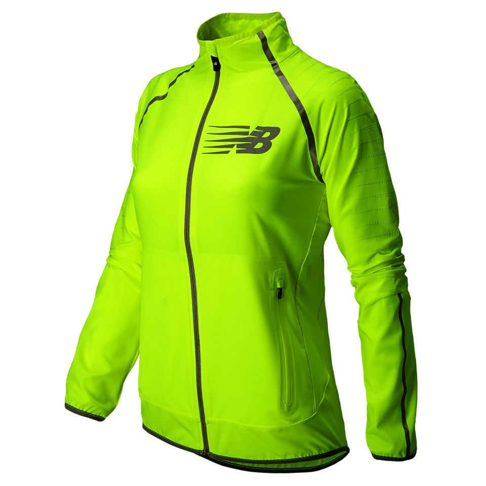 info for eef46 8628b New Balance Women's NBX Hi Viz Beacon Jacket - Hi Vis Yellow