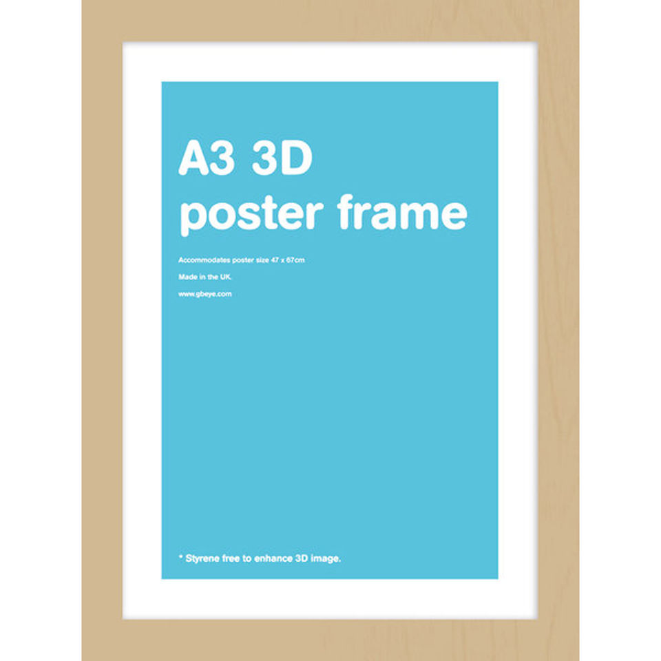 oak frame a3 lenticular iwoot. Black Bedroom Furniture Sets. Home Design Ideas
