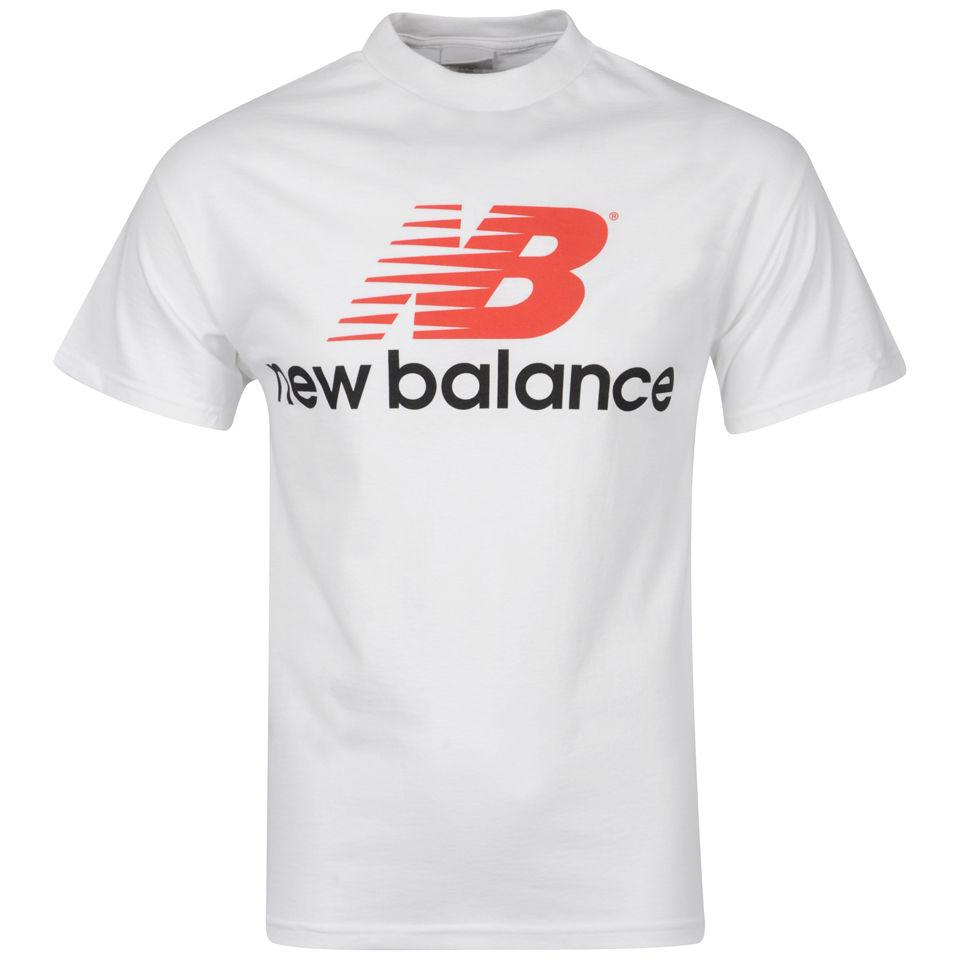 Technology Logo Collection: New Balance Men's White Back Logo T-Shirt Sports & Leisure