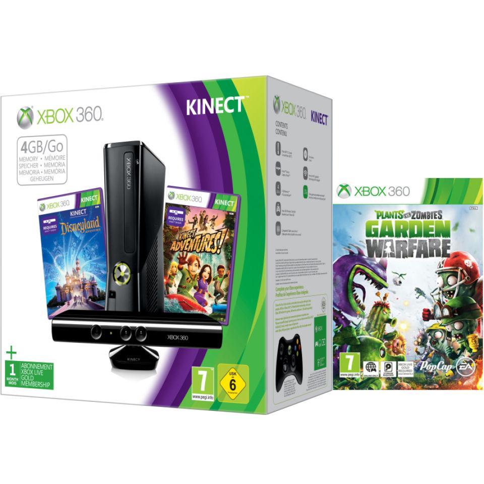 Xbox 360 4GB Kin...Xbox 360 S With Kinect Holiday Bundle