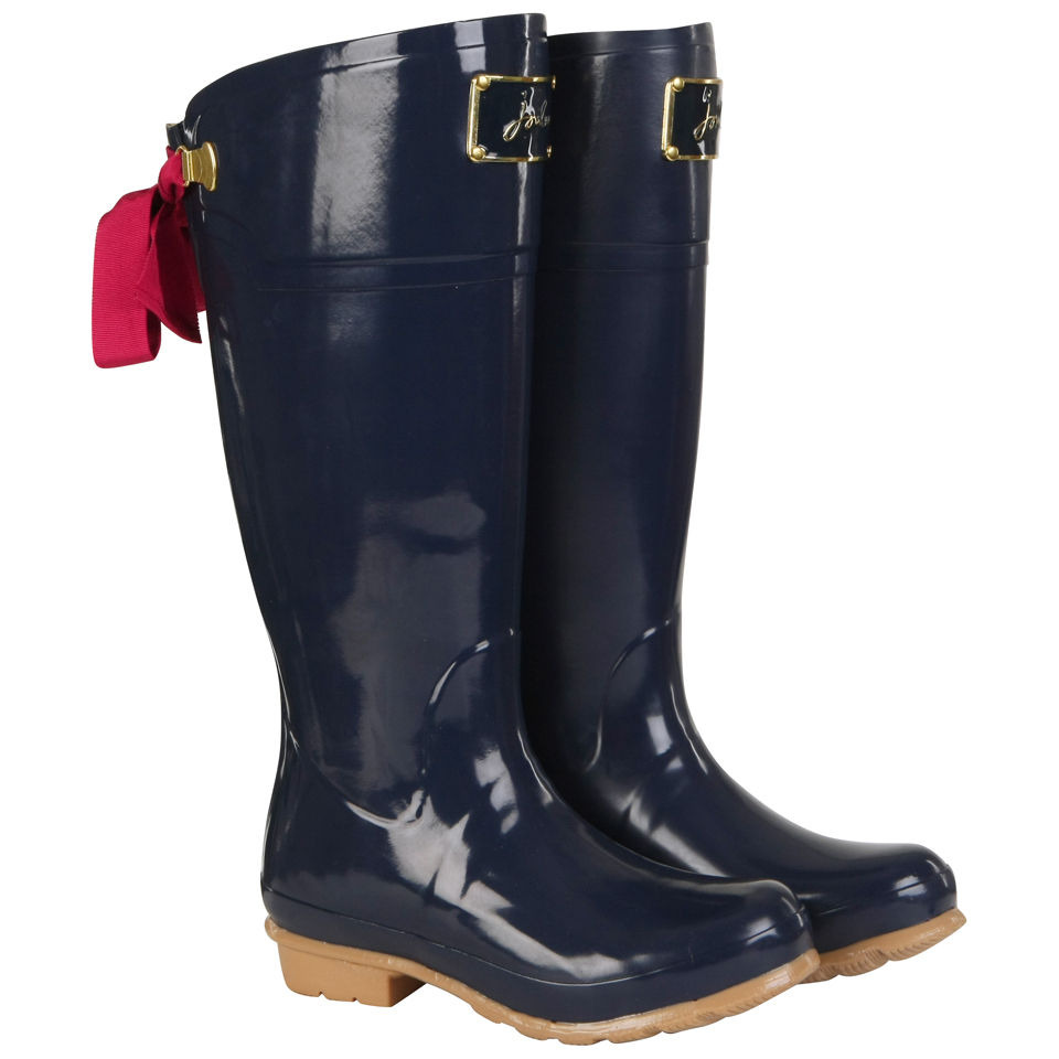 Joules Women S Evedon Bow Back Wellies Navy Free Uk