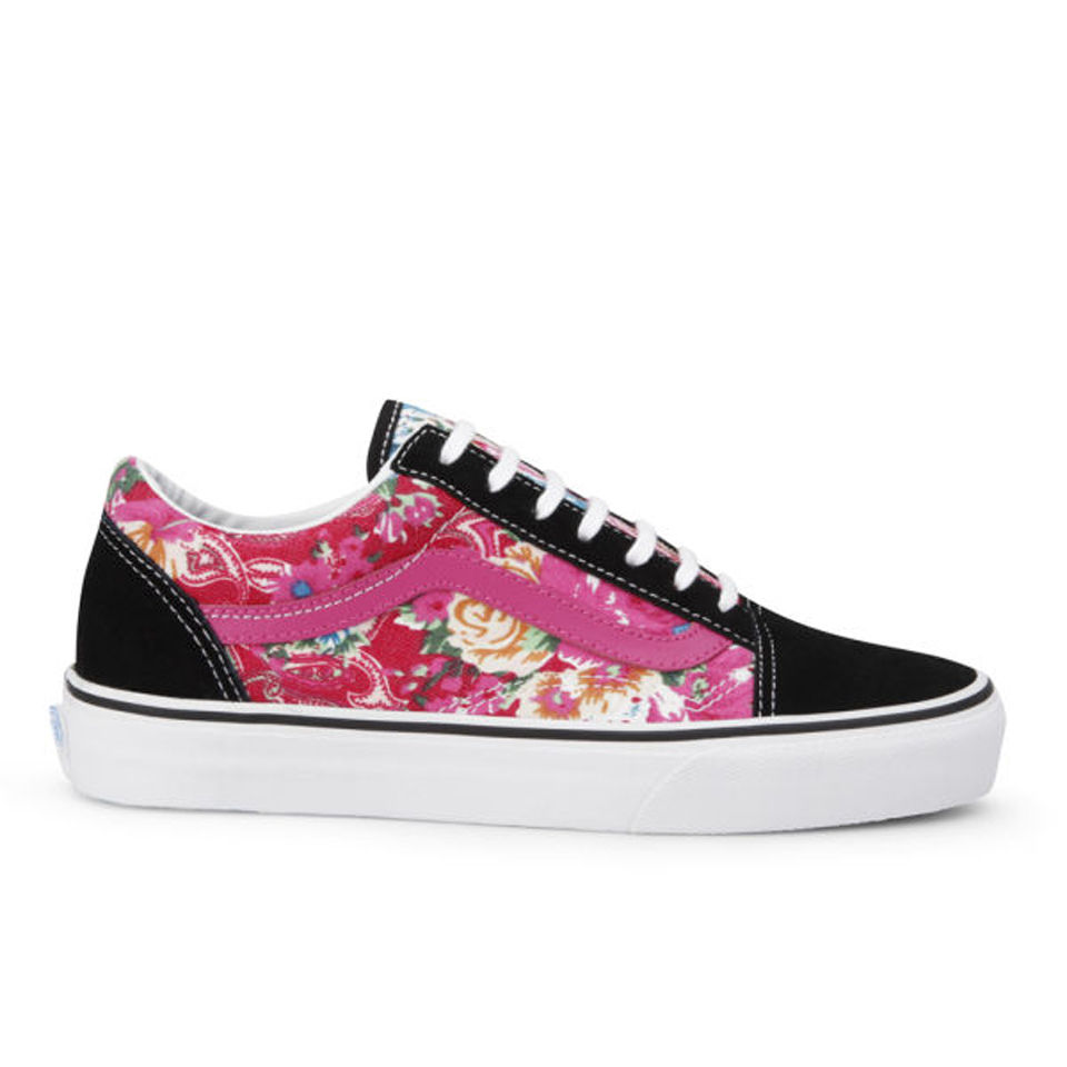 Vans Women s Old Skool Multi Floral Trainers - Pink Black Womens Footwear  7940c2ea9
