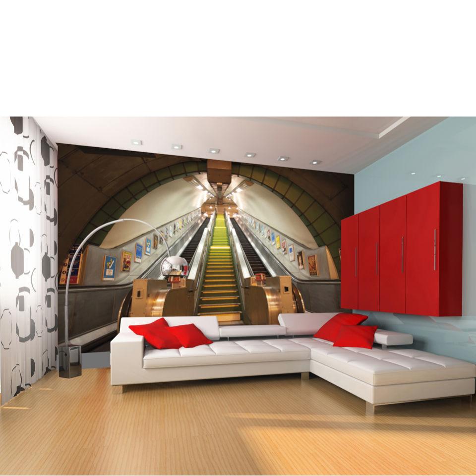 subway escalators and stairs wall mural homeware thehut com
