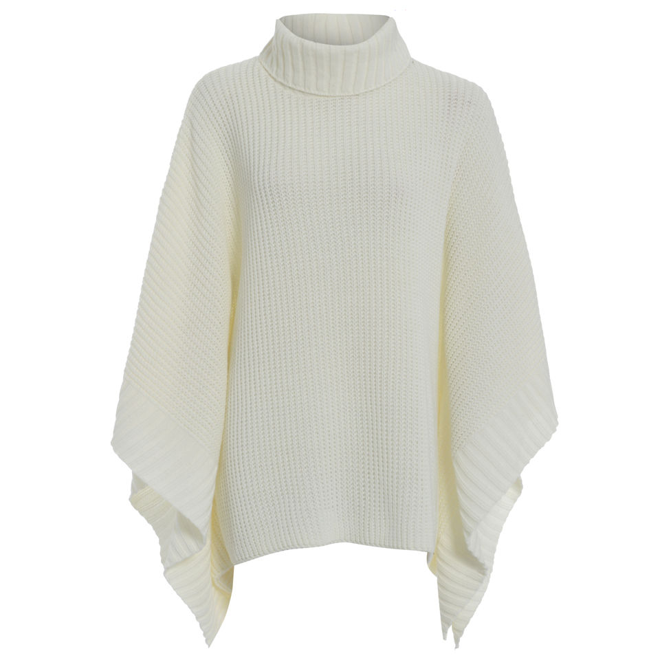 Damned Delux Womens Knitted Poncho Cream Womens Clothing