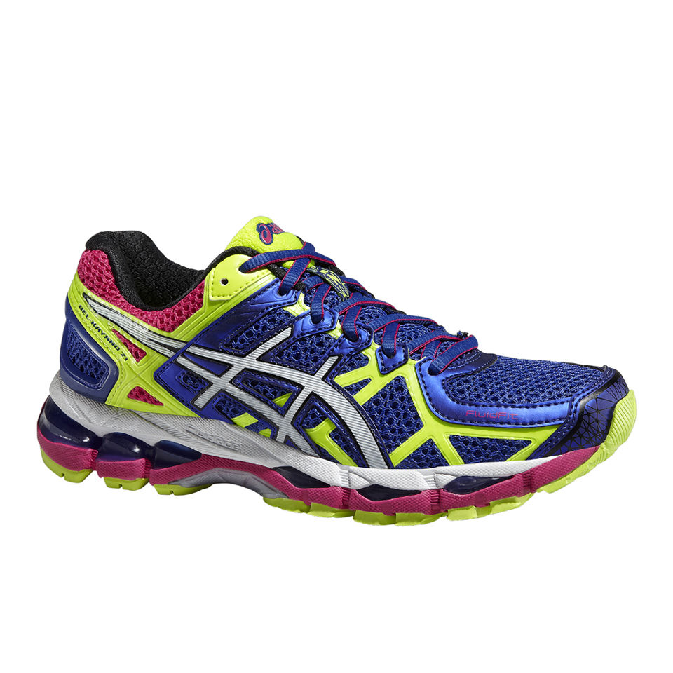 info for 66733 6d8d1 ... Asics Women s Gel Kayano 21 Structured Cushioning Shoes - Blue White Flash  Yellow
