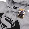 DC Comics Men's Batman v Superman Logo Hoody - Grey: Image 4