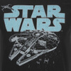 Star Wars Men's Retro Falcon T-Shirt - Black: Image 3