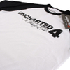 Uncharted 4 Men's Logo Raglan T-Shirt - White/Black: Image 2