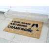 Come Again & Bring Champagne Doormat: Image 1